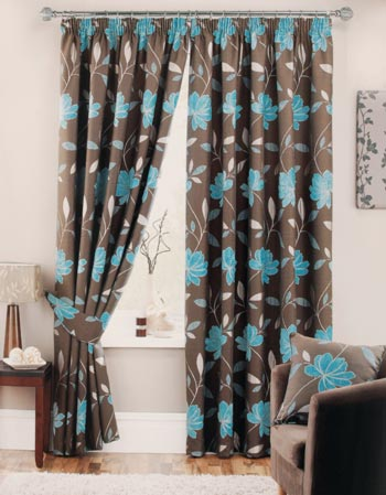 Adelaide Ready Made Curtain Blue Curtains24 Co Uk