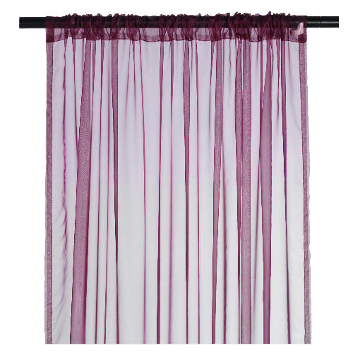 Plain Voile Channel Top Curtain Curtains24 Co Uk